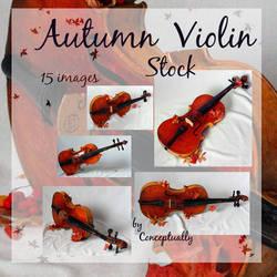 Autumn violin stock