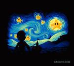 Super starry night process video