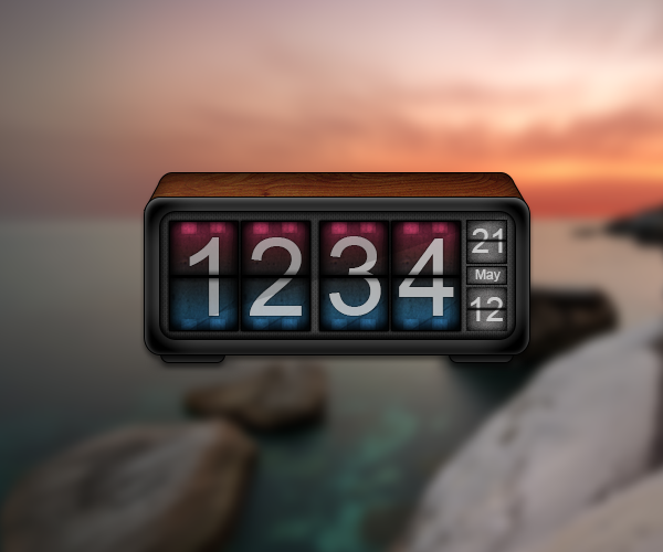 Digital Clock for Geektool by luisperu9