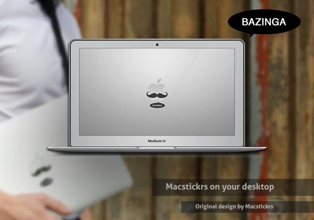 Bazinga MacStickrs wallpaper by luisperu9