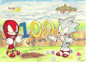 Sonic the Hedgehog 3 and Knuckles 100 Watchers! by MeetJohnDoe