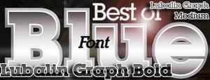 Best of Blue Font.