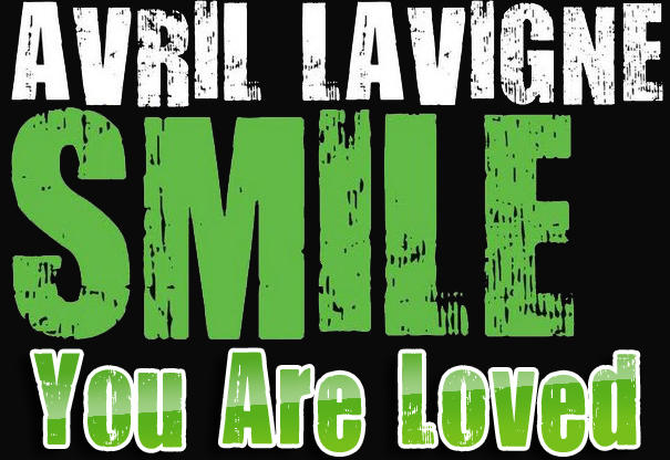 Avril Lavigne Smile Font by Maryah92