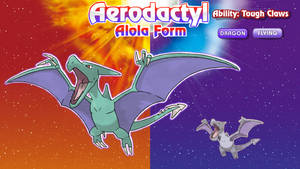Alolan Form Aerodactyl by ConnorGotchi