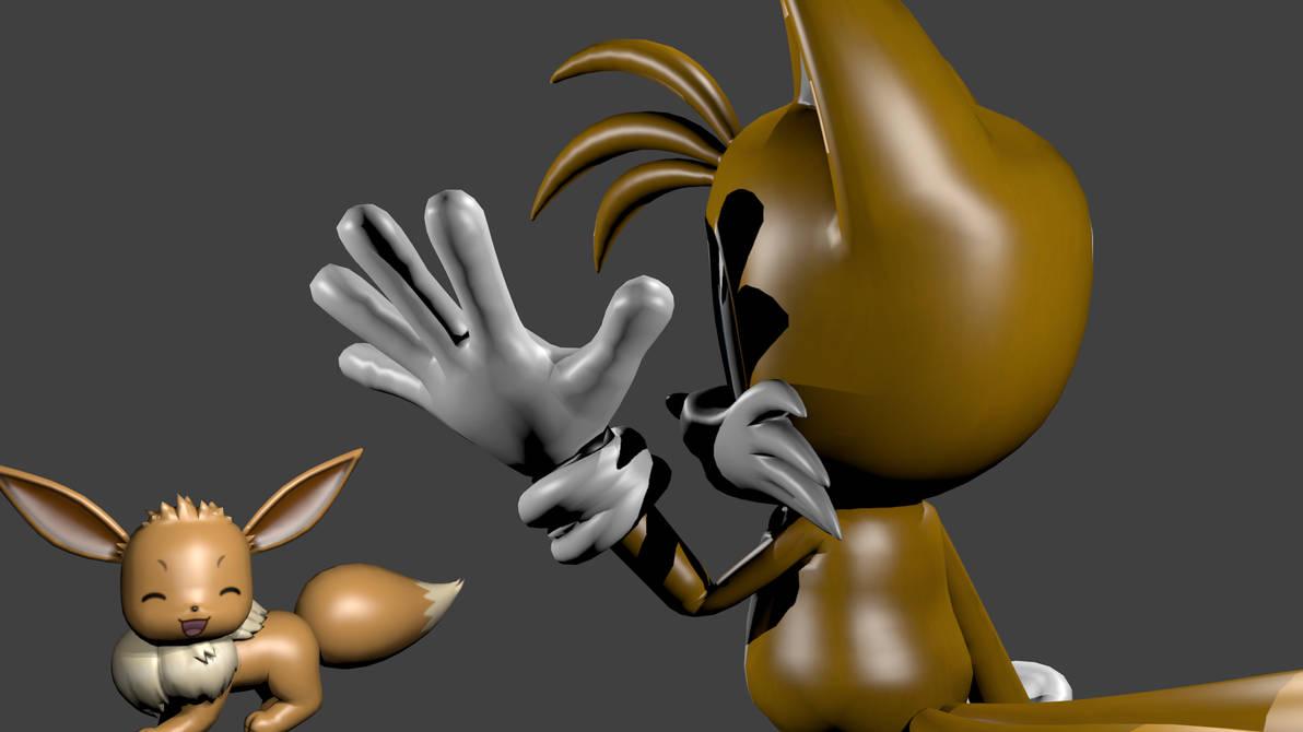 Blender)Tails see Eevee test by MarlonHX on DeviantArt