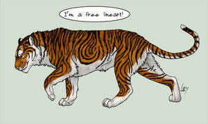 Free Lineart - Tiger