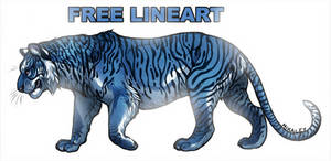 Free Lineart - Tiger 2.0