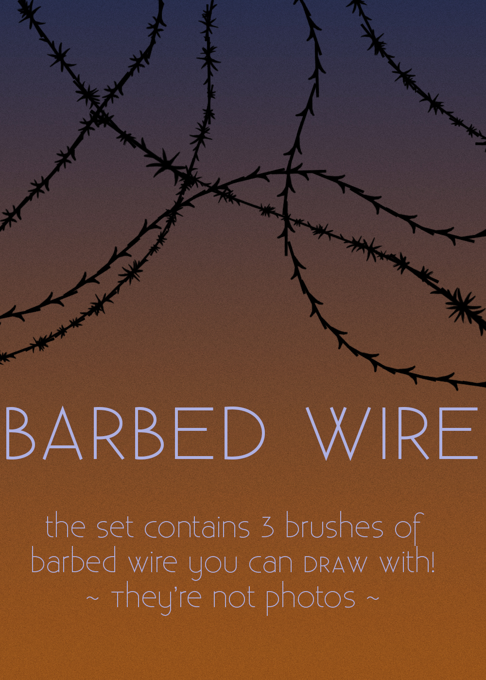 Barbed Wire BRUSHES by dann94