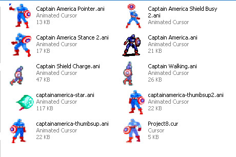 Captain America Cursor Pack by Superman8193 on DeviantArt
