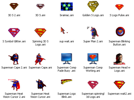 Superman Busy Cursor Pack by Superman8193 on DeviantArt