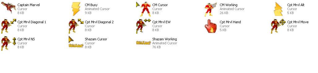 Captain Marvel-Shazam Cursors by Superman8193 on DeviantArt