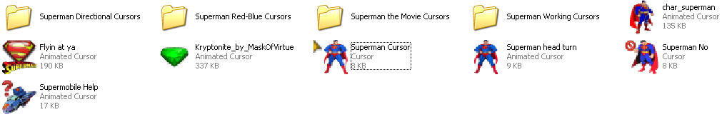 Of Superman Cursors By Superman8193 On Deviantart - Www imagez co