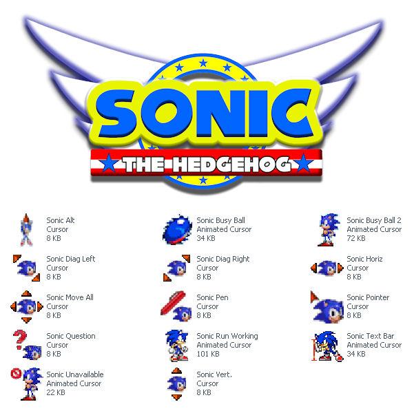 Sonic The HedgeHog Cursor Set by Superman8193 on DeviantArt