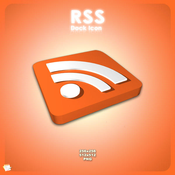 Rss Dock Icon by AlperEsin