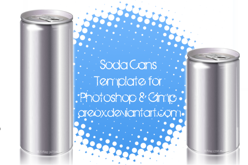 Gimp and PS Soda Can Template