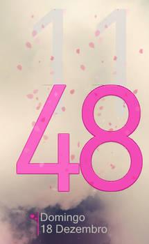 Cowon Clock Love Pink Heart