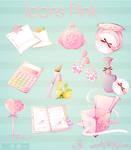 Iconos rosados By ietf4899Love