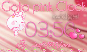 Gota pink Clock By ietf4899Love