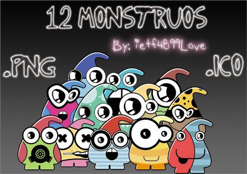 12 Monstruos .PNG e .ICO