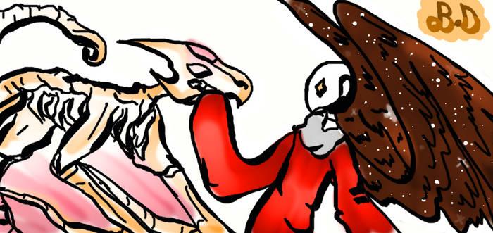 Outer X Birdtale {Gaster Blaster} Kestrel