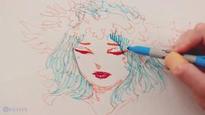 Portrait Doodle Using Sharpies