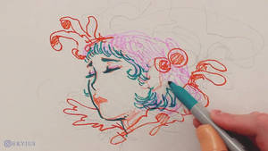 Marker Doodle Process With Sharpies