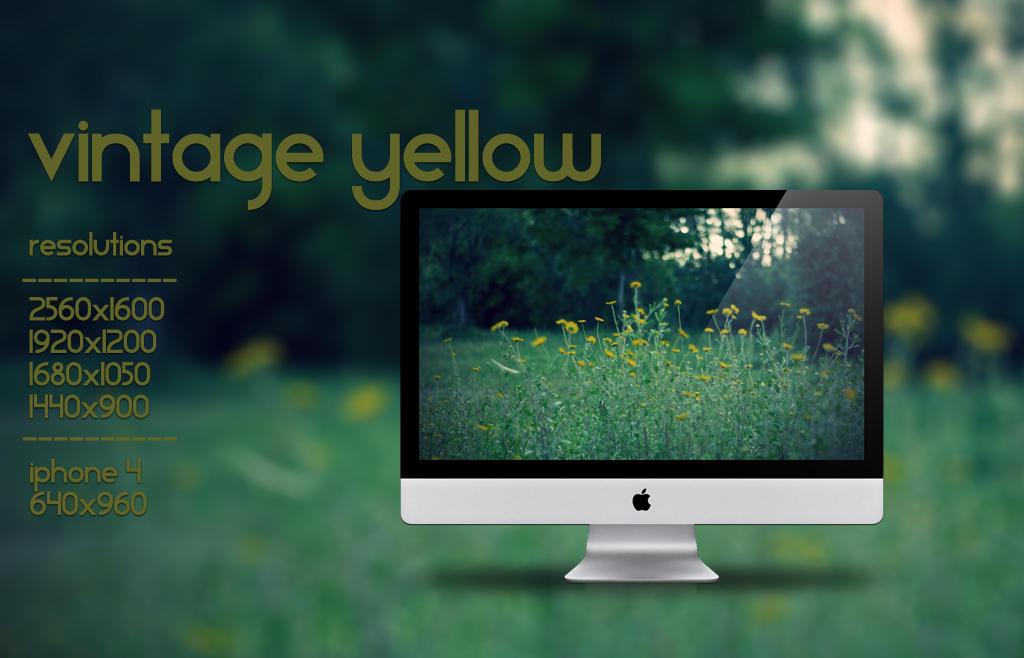 Vintage Yellow by sabioingrato