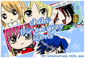 Dir en grey CHIBI AVATARS by Paoru