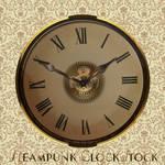 Steam Punk Clock Face PSD