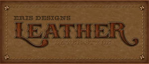 Leather Text Style PSD