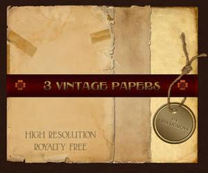 Vintage Paper Pack by Spiral-0ut
