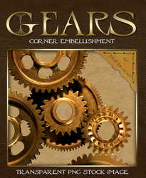 Gear Corner Embellishment - Transparent PNG by Spiral-0ut