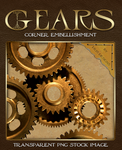 Gear Corner Embellishment - Transparent PNG