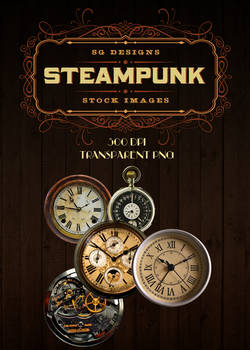 Clock Face PNG Pack 2 - Steampunk Edition
