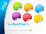 Free PSD Round Stickers