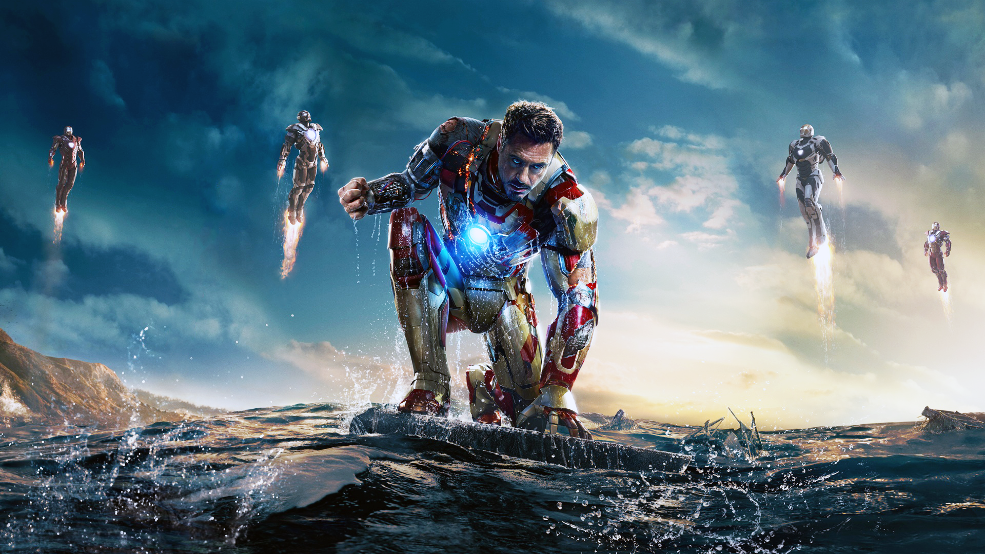iron man 3 mark 42 wallpaper by xbullitt68 customization wallpaper    Iron Man 3 Poster Wallpaper Mark 42