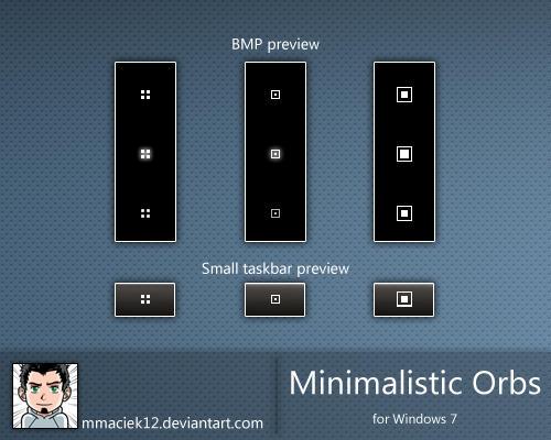 Minimalistic Orbs for Windows 7 by mmaciek12