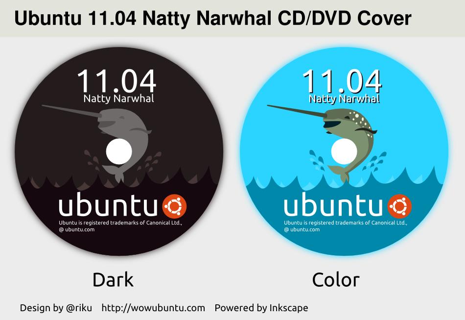 Ubuntu Natty CD DVD Cover by rikulu
