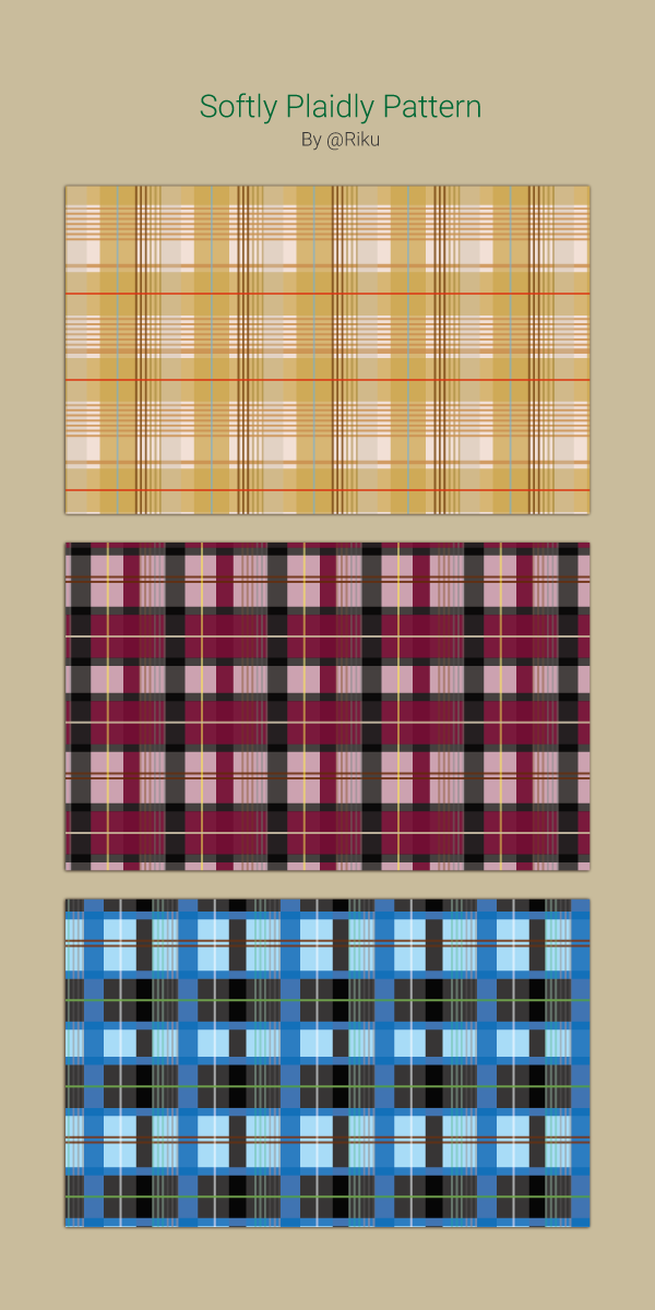 Softly Plaids Pattern by rikulu