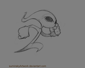 Boo (tmp name) running animation by SuminskyArtwork