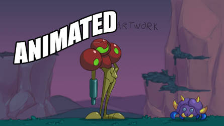 Samus Shoots Zoomer [animated]