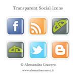 Transparent Social Icons