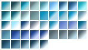 gradients: blues
