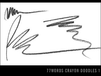 brushes: crayon doodles no.1 by 77words