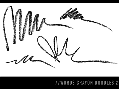 brushes: crayon doodles no.2 by 77words