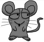 Cartoon Mouse lineart.PSD