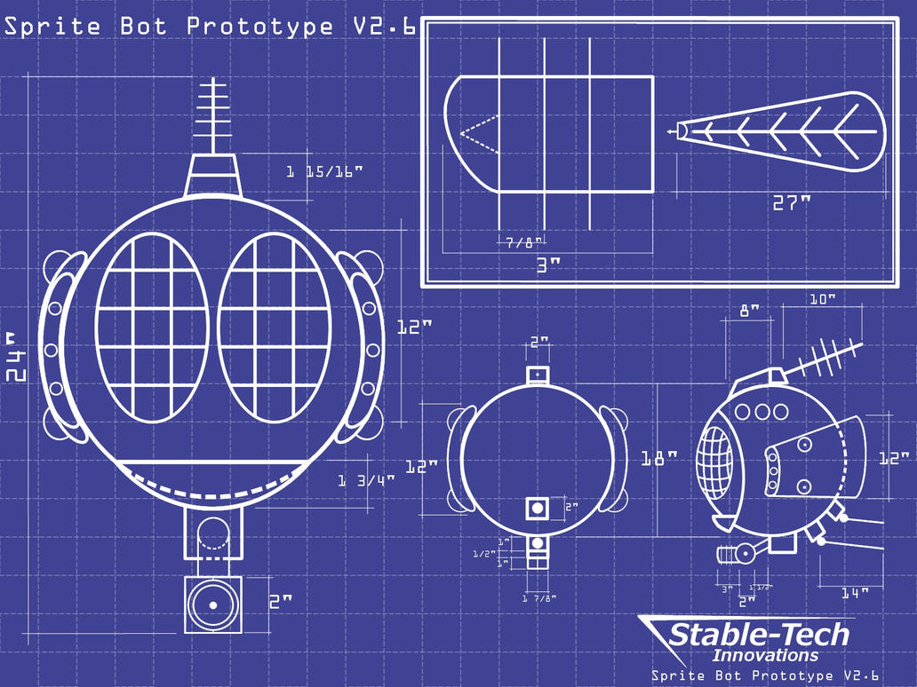 Spritebot Blueprints Wallpaper by L9OBL