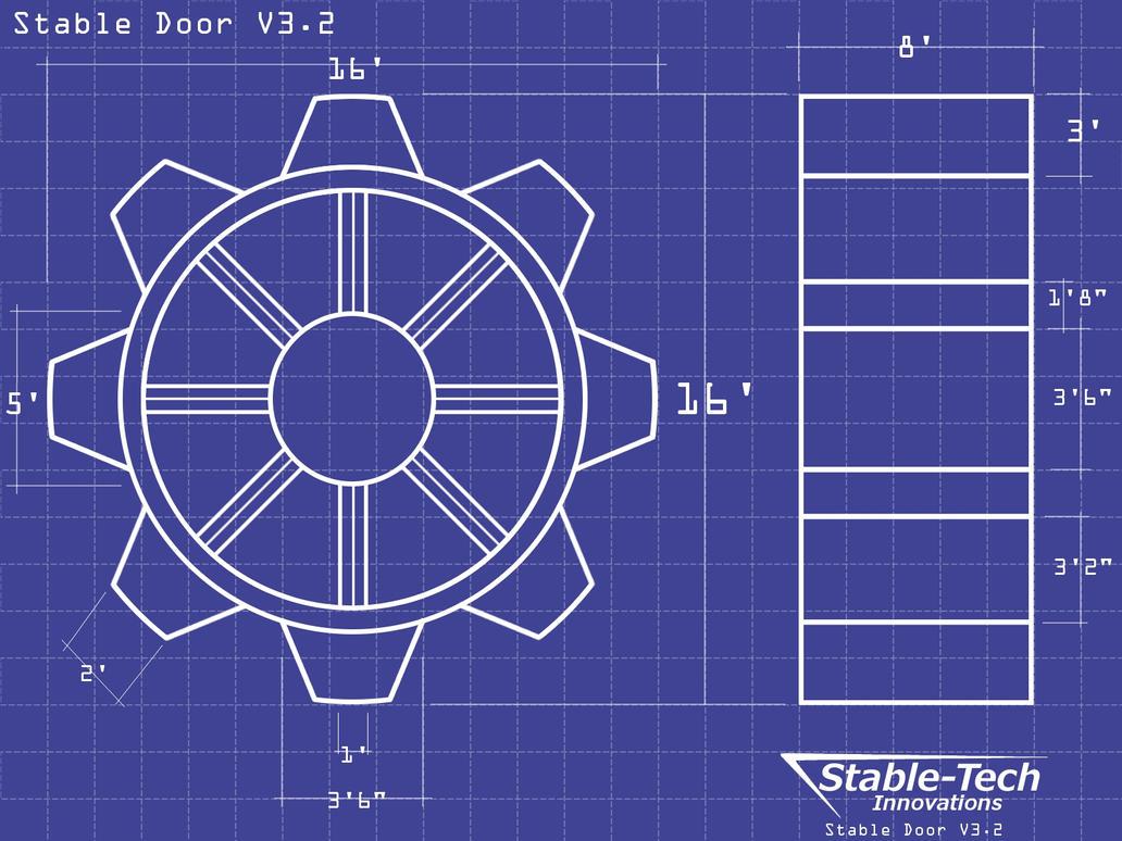 Stable Door Blueprints Wallpaper by L9OBL