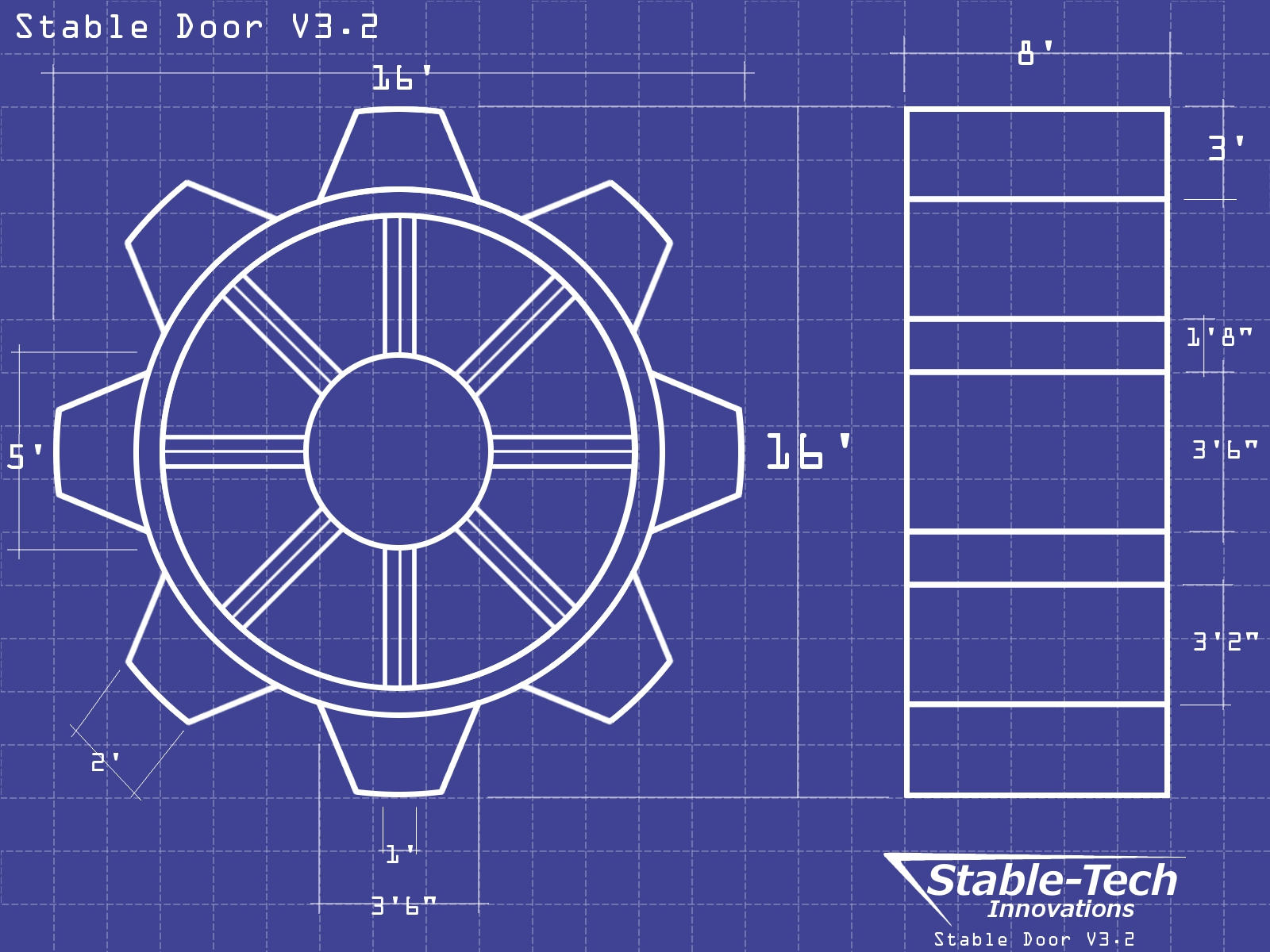 Stable Door Blueprints Wallpaper by L9OBL
