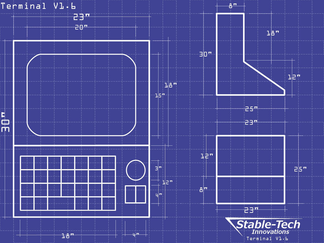 Terminal Blueprints Wallpaper by L9OBL